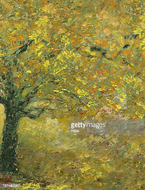 Color of Autumn in Forest (oil painting)
