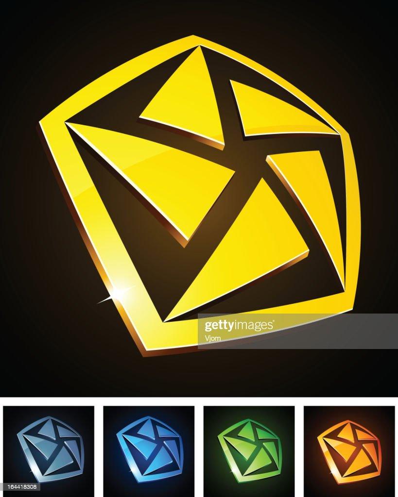 Color pentagon signs.