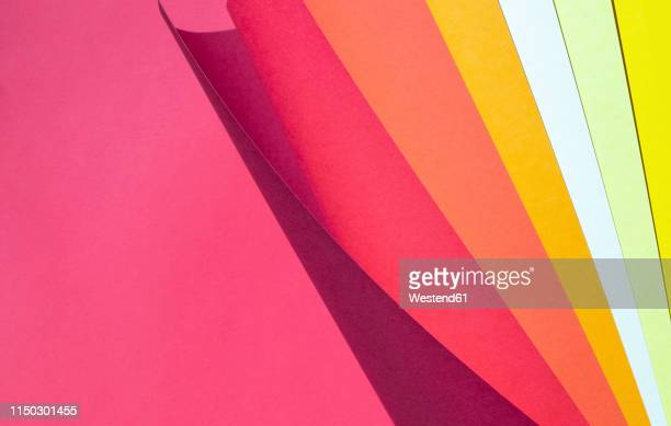 color spectrum papers as an abstract background - stack stock illustrations