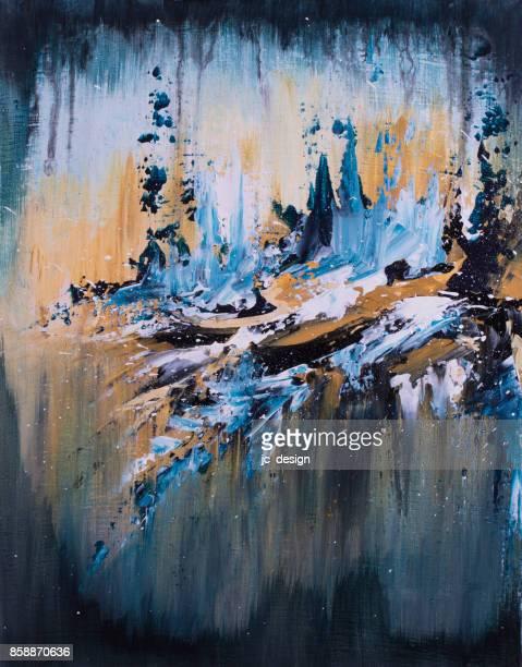 Kleurrijke abstracte schilderkunst