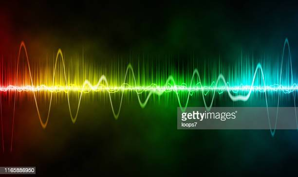 colorful abstract wave background - frequency stock illustrations