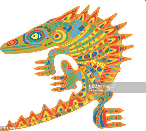 colorful chameleon - chameleon stock illustrations, clip art, cartoons, & icons