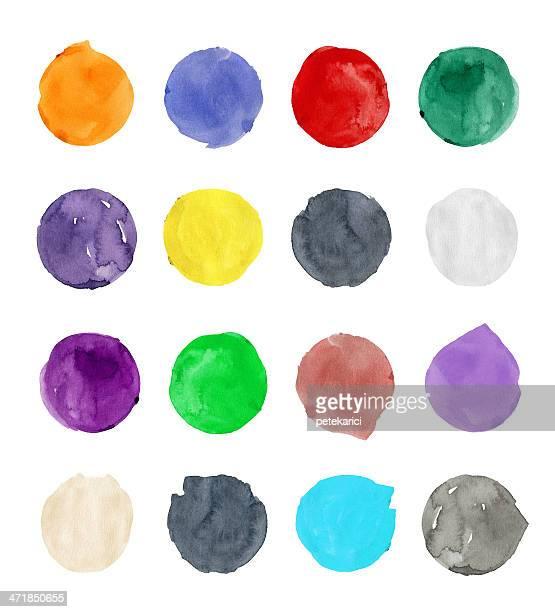ilustrações, clipart, desenhos animados e ícones de círculos coloridos - cinza descrição de cor