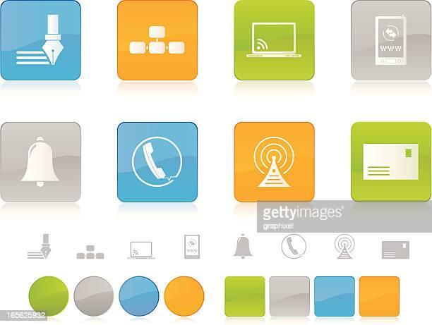 Colorful Communication Icons