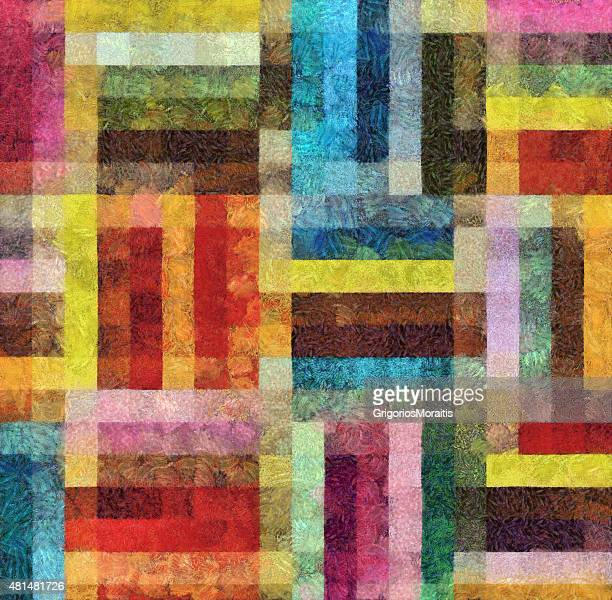 Colorful Geometric Abstract Background Painting