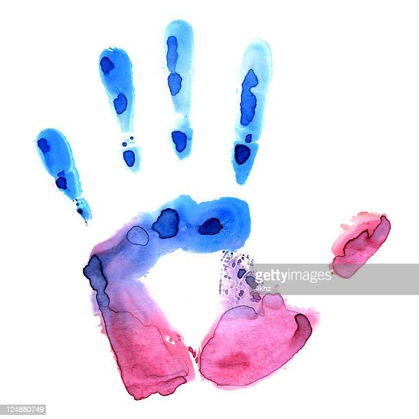 Colorful Hand Print Texture