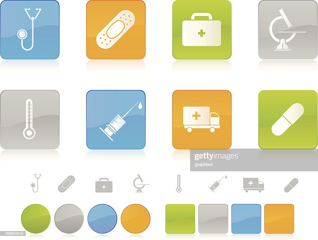 Colorful Healthcare Icons