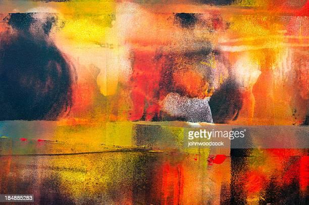 Colorful horizontal abstract