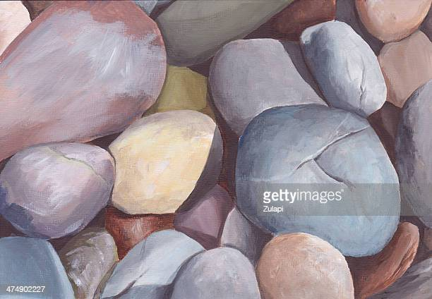 colorful pebbles oil painting - sandstone stock illustrations, clip art, cartoons, & icons