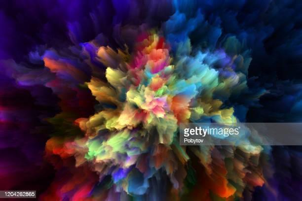 colorful rainbow holi paint color powder explosion isolated black background - holi stock illustrations