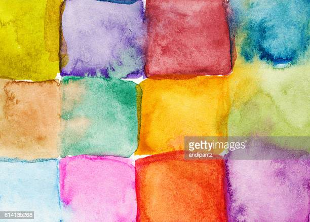 colorful rainbow square background - mixed media stock illustrations