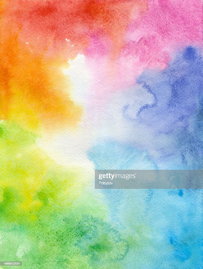 Colorful watercolor background : stock illustration