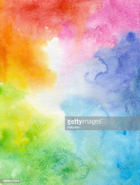 colorful watercolor background - rainbow stock illustrations, clip art, cartoons, & icons
