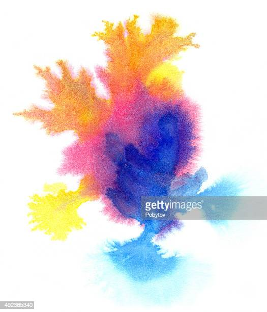 colorful watercolor blot - wood stain stock illustrations, clip art, cartoons, & icons