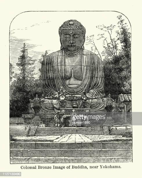 Colossal bronze statue of Buddha, near Yokohama, Japan, 19th Century
