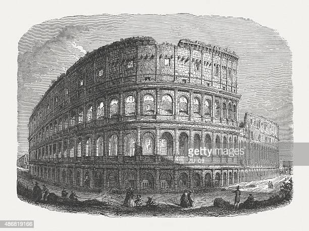 ilustrações, clipart, desenhos animados e ícones de coliseu, em roma, publicado em 1878 - coliseu
