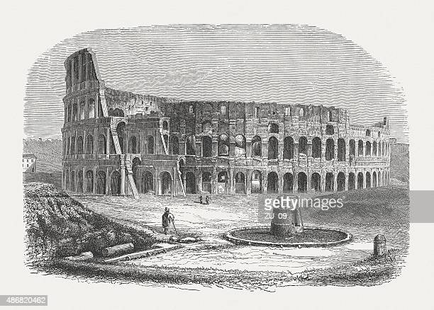 Colosseum in Rome, published in 1878