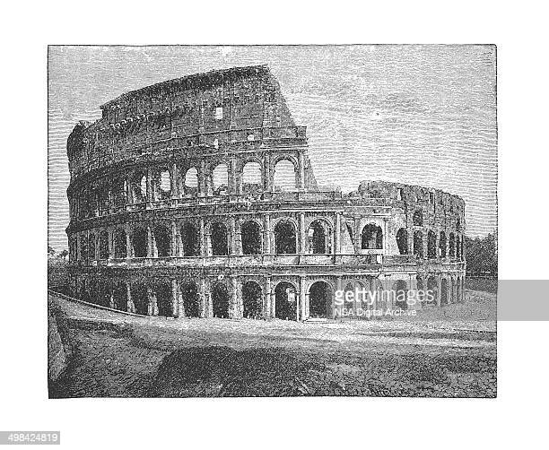 Colosseum, Rome, Italy (antique engraving)