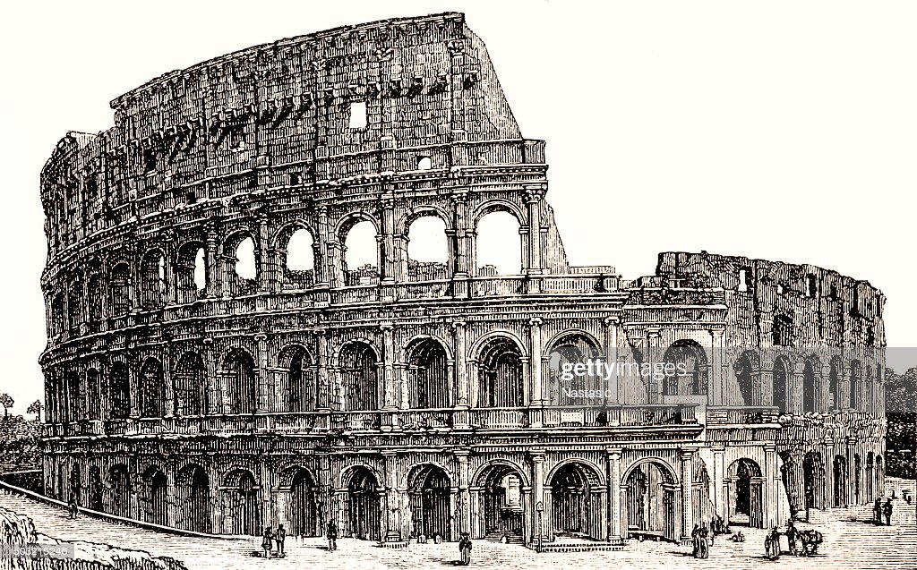Colosseum, Rome, Italy : stock illustration