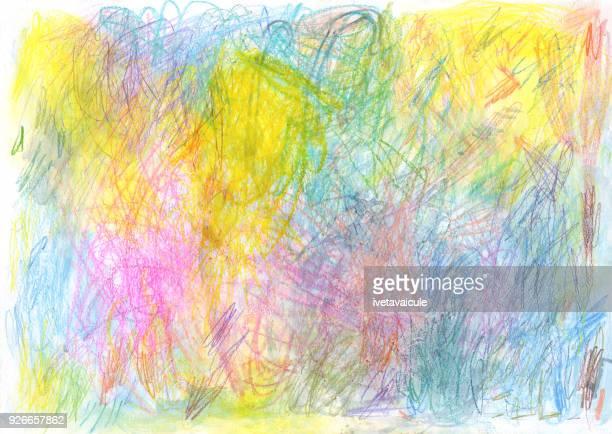 色の落書きの背景パターン