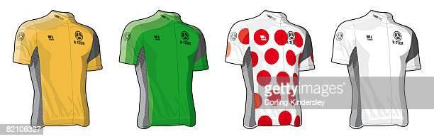 coloured jerseys - sports jersey stock illustrations
