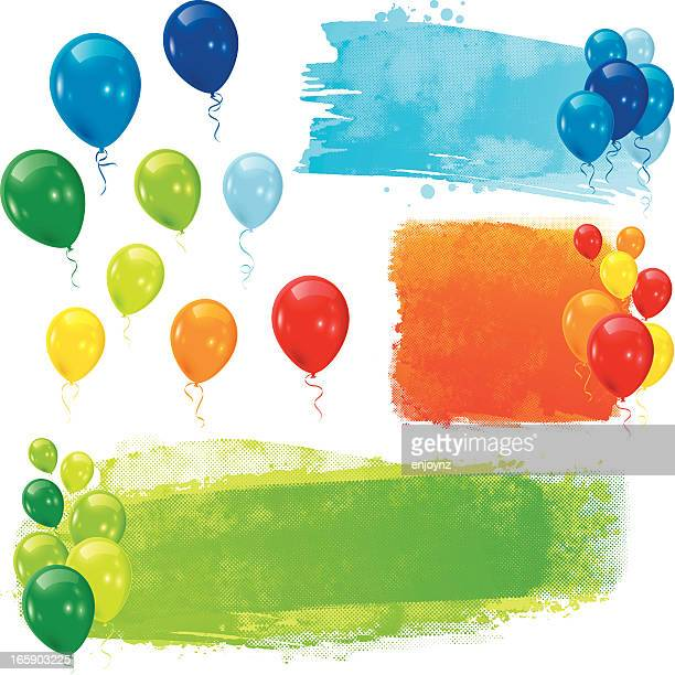 colourful balloons - traditional festival stock illustrations