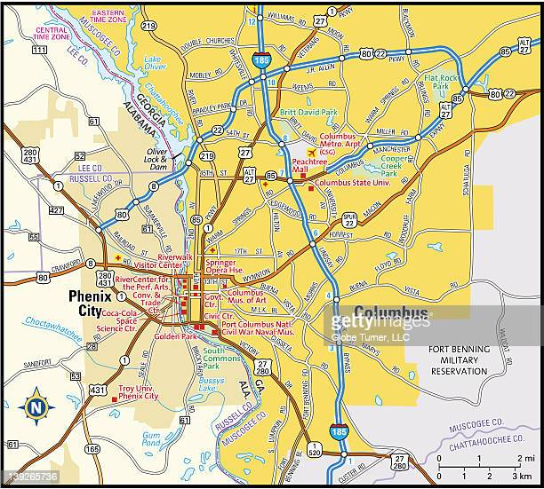 columbus, georgia area - columbus georgia stock illustrations, clip art, cartoons, & icons