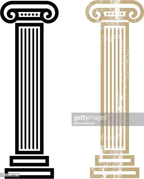 column - greek culture stock illustrations, clip art, cartoons, & icons