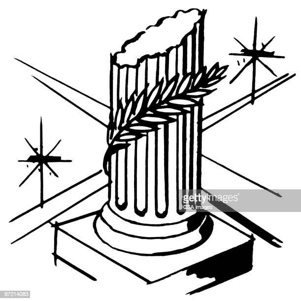 column - greek culture stock illustrations