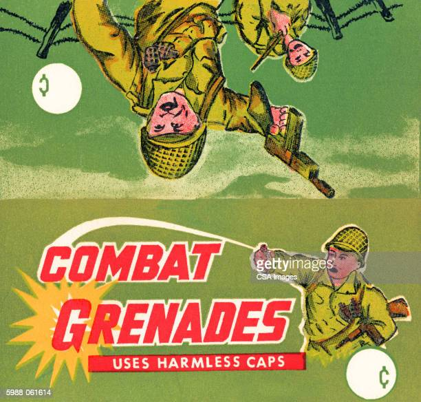 "combat grenades"" packagin - army soldier stock illustrations"