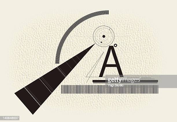 combination of alphabet and shapes, line - the alphabet stock illustrations