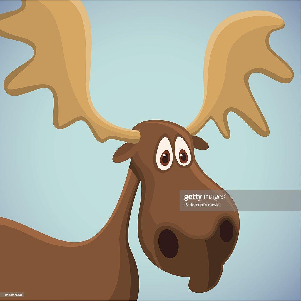 Comic moose.