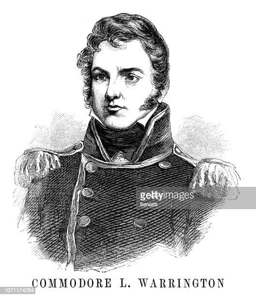commodore lewis warrington - us navy stock illustrations, clip art, cartoons, & icons