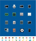 Common website icons. Hardware