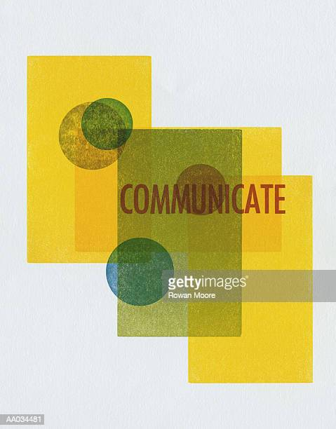'communicate' with yellow rectangles - medium group of objects stock illustrations, clip art, cartoons, & icons