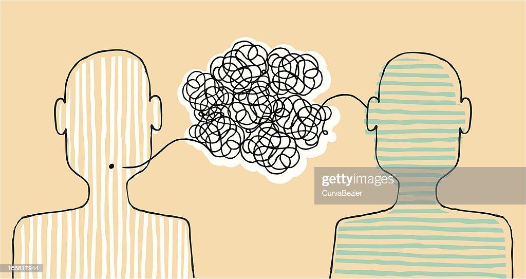 Communicating a message : stock illustration