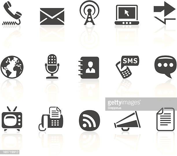 communication icons - antenna aerial stock illustrations, clip art, cartoons, & icons