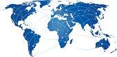 Communication world map