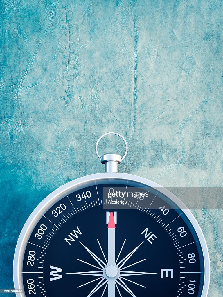 Compass on blue background : stock illustration