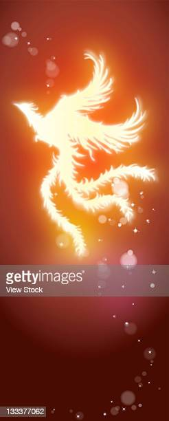 composite illustration - phoenix mythical bird stock illustrations, clip art, cartoons, & icons