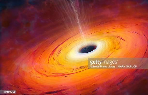 computer artwork of black hole - black hole stock illustrations