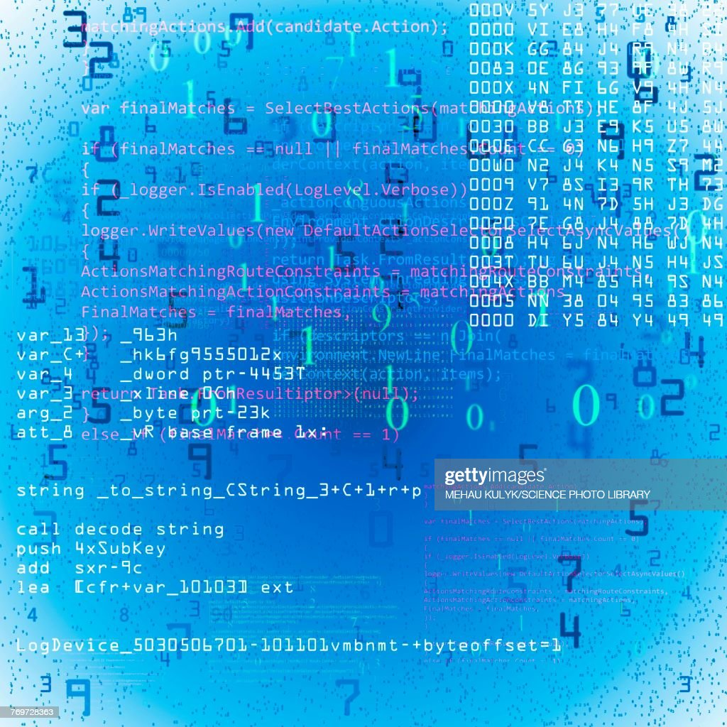 Computer code, illustration : stock illustration