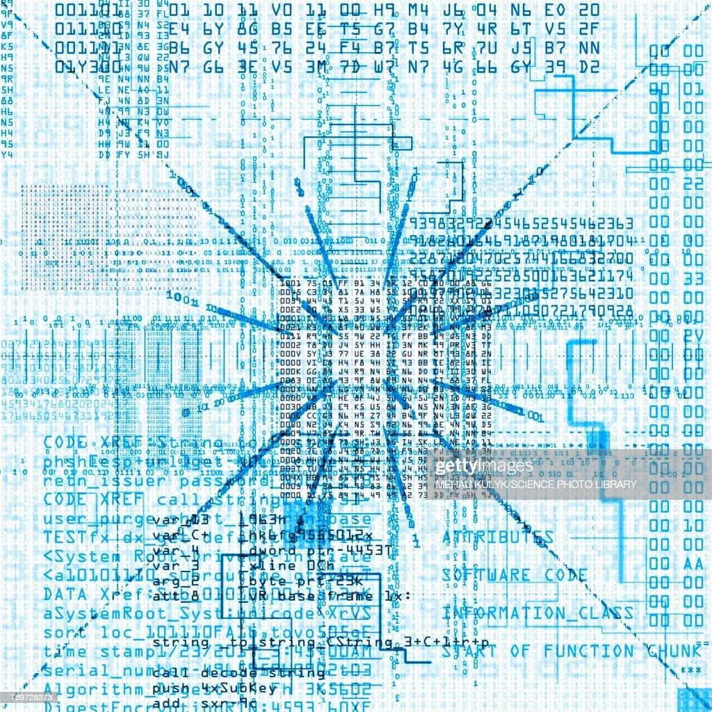 Computer code, illustration : stock illustration
