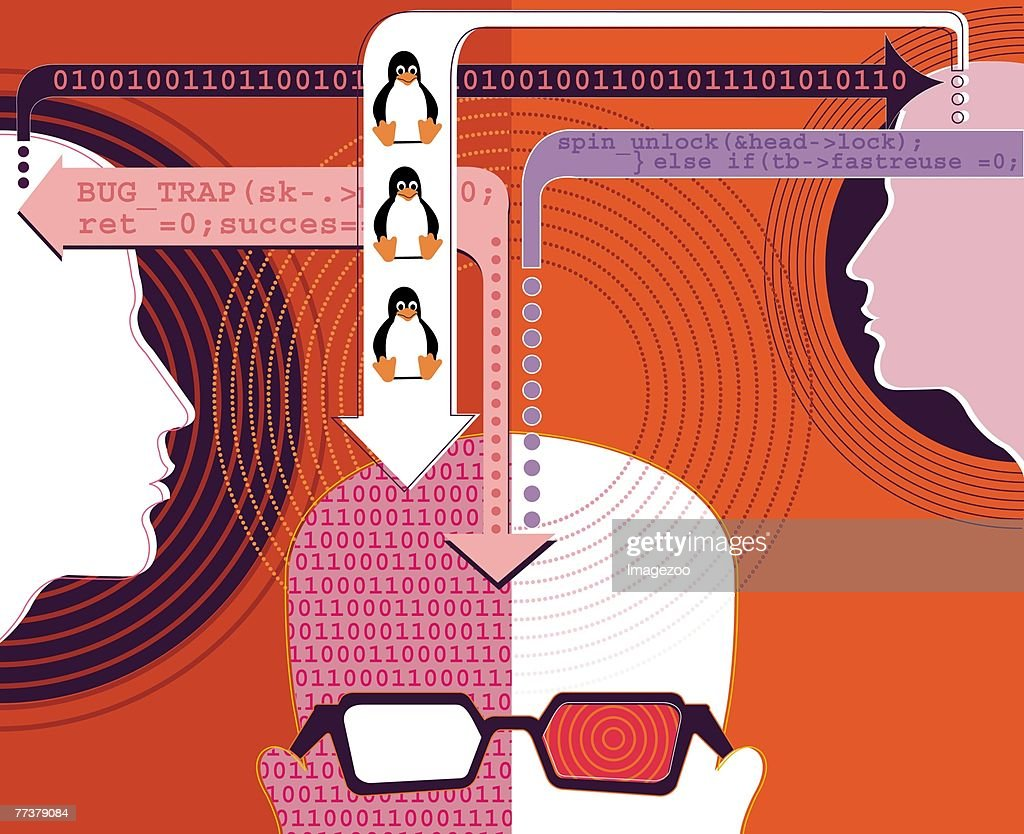 computer coder : Illustration