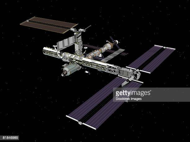 Computer generated image of the International Space Station.