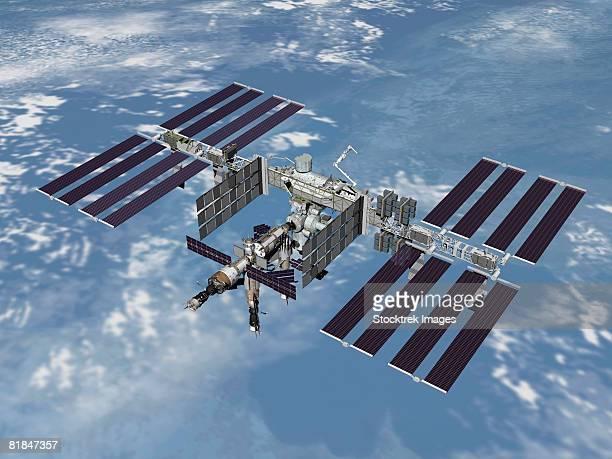 computer generated image of the international space station. - 国際宇宙ステーション点のイラスト素材/クリップアート素材/マンガ素材/アイコン素材