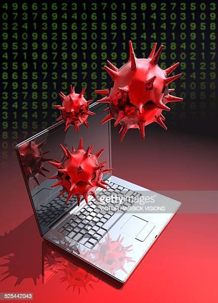 computer virus, artwork - computer virus stock illustrations