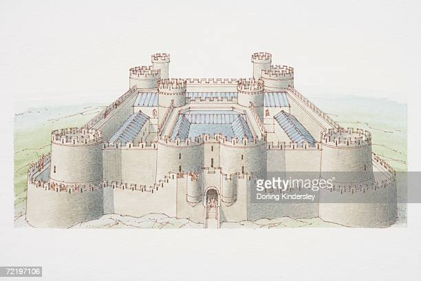 Concentric castle, two walls enclosing inner courtyard.