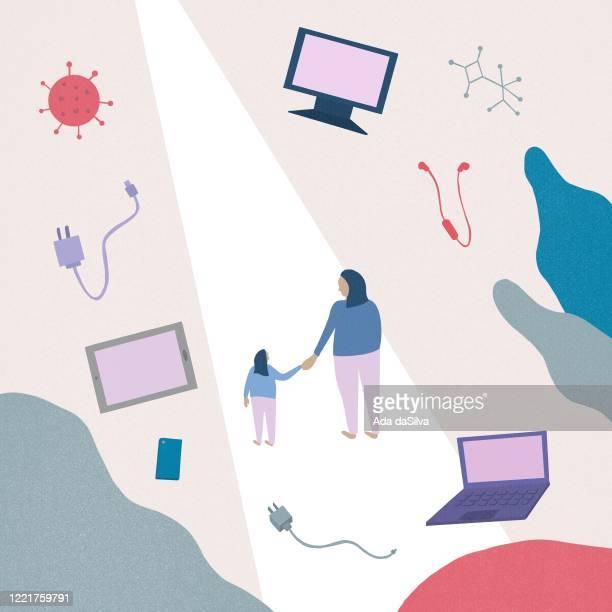 コロナウイルス後の未来のコンセプト。 - 繁殖力点のイラスト素材/クリップアート素材/マンガ素材/アイコン素材