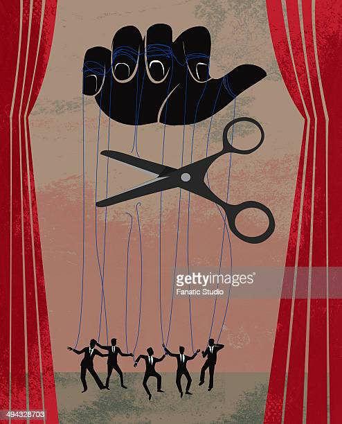 concept of business people getting fired - puppet stock illustrations, clip art, cartoons, & icons